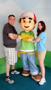 Who doesn't have a photo with Handy Manny?